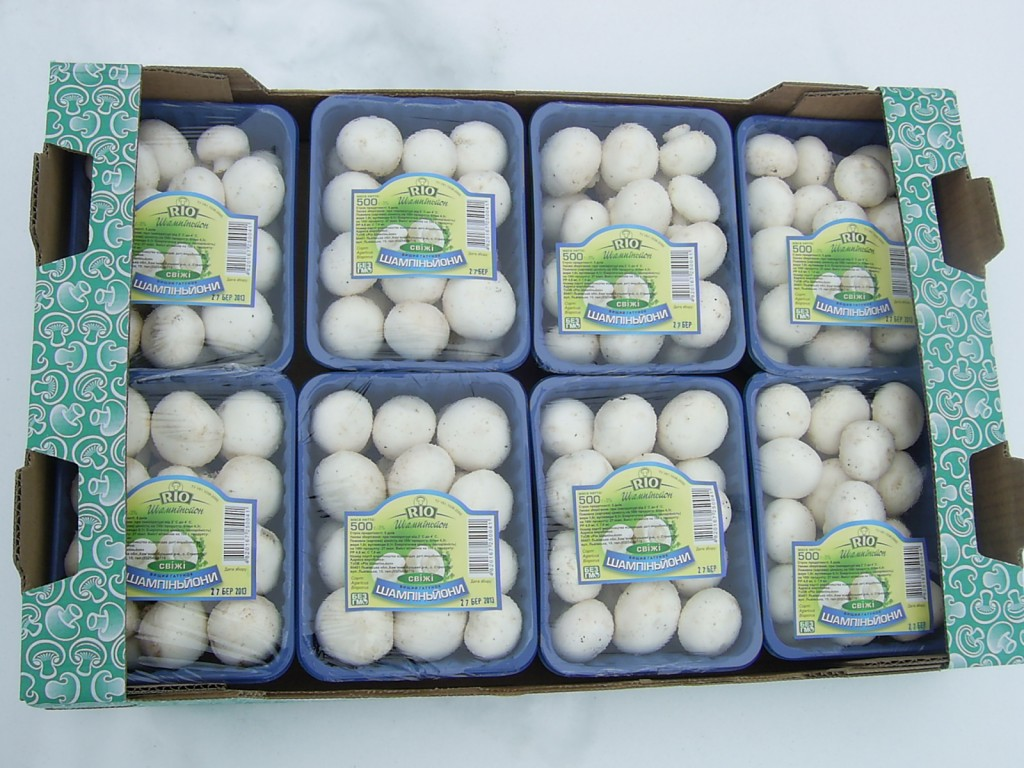 On the shelves of supermarkets West region expanded the range of packaged mushroom