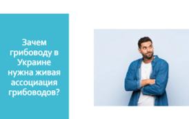 Зачем украинскому грибоводу ассоциация? Регистрируйтесь на онлайн-собрание 4 декабря по поводу Ассоциации УКРГРИБПРОМ